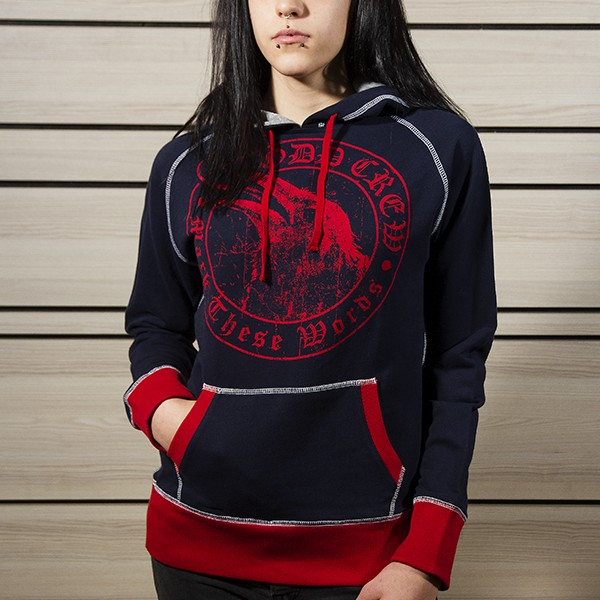 odd-crew-mark-these-words-women-hoodie-red-raven-front
