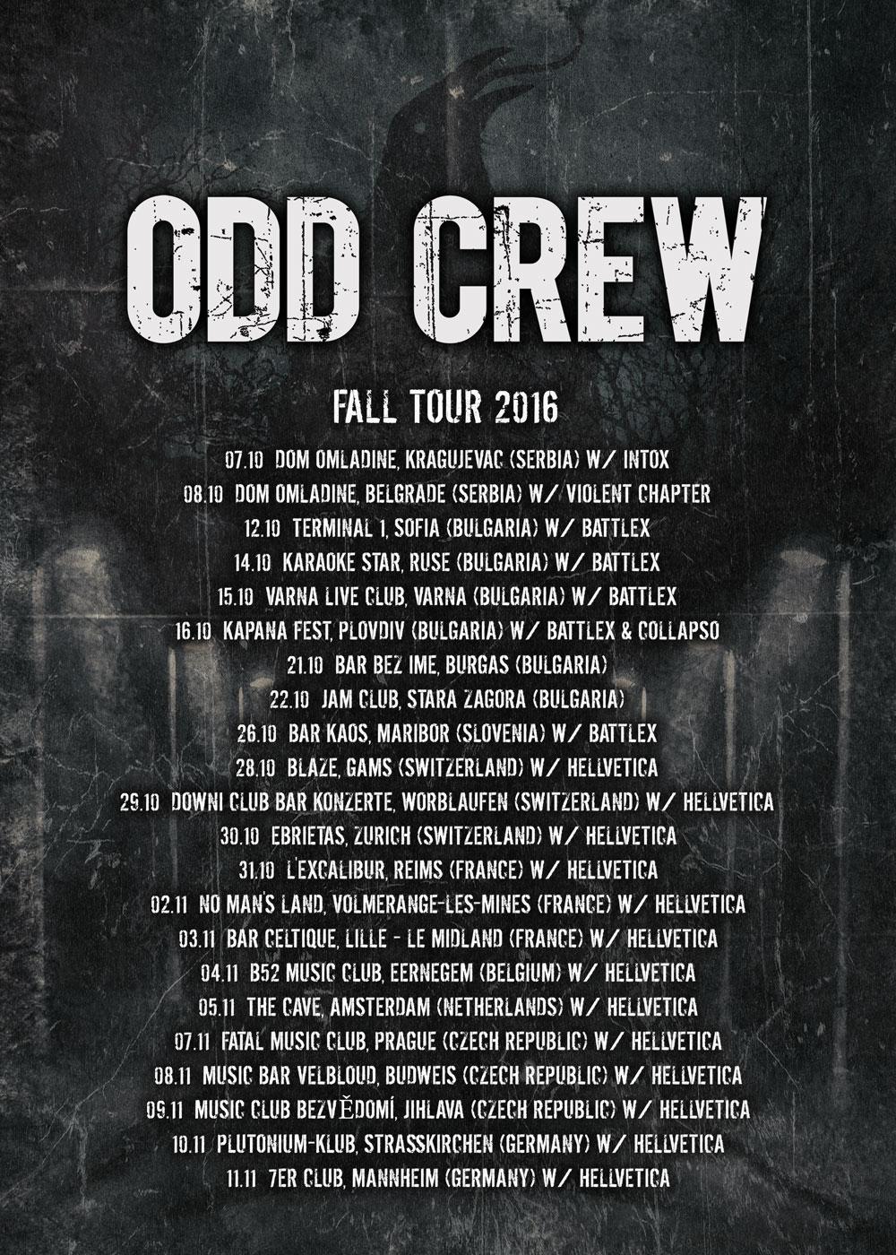Odd Crew tour