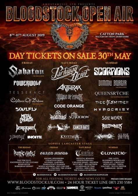 ODD CREW CONFIRM BLOODSTOCK OPEN AIR AND THE UNICORN CAMDEN