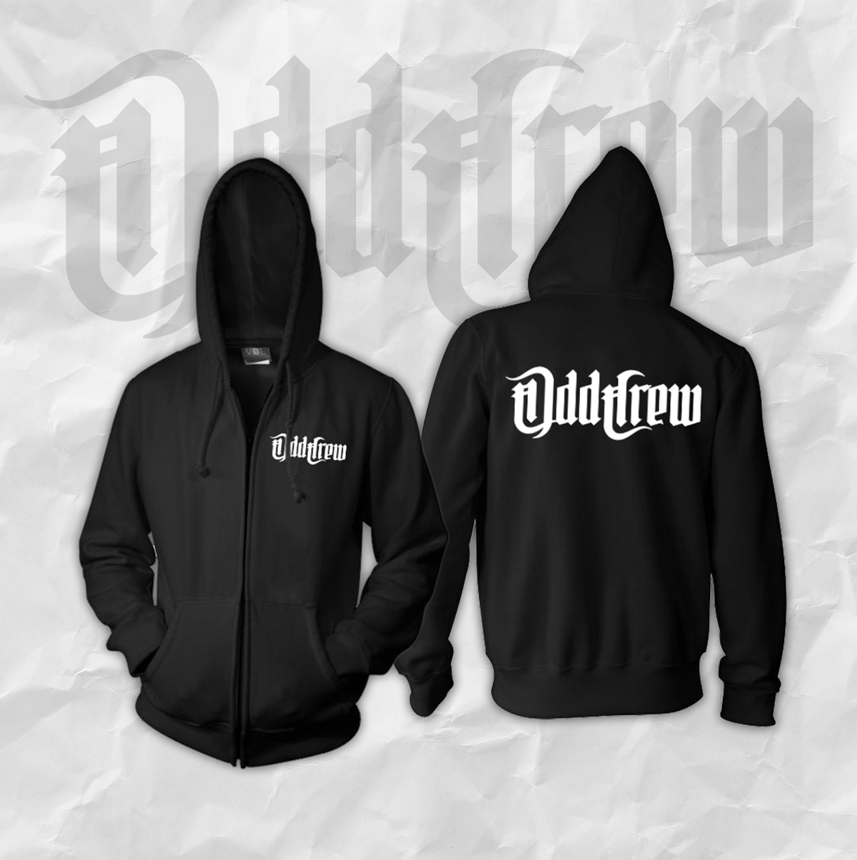 Odd Crew Logo Zip-Up Hoodie (Men's)